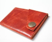 Leather Wallet aka The Dave in Pumpkin Orange