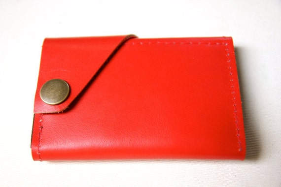 Leather Wallet aka The Dave in True Red
