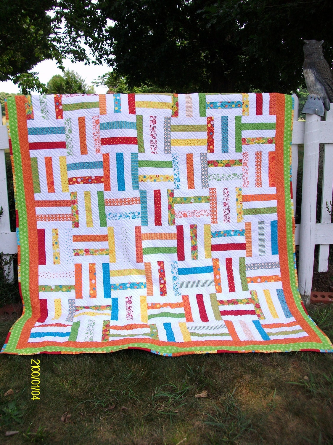 Reserved for Jessica Fence Rail Quilt by RobbienaeQuilts ...