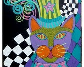 Circus Kitty - Orginal Acrylic Painting