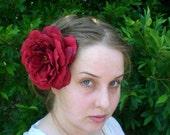 crimson rose extravagant fascinator