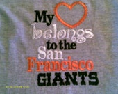 San Francisco Giants tee shirt