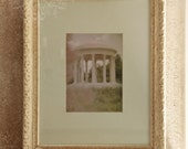 Je reve (I am dreaming...)- Vintage Framed Photograph Temple of Love at Versailles, France