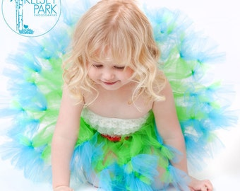 Petti Tutu, Tutu, Spring Green and Turquoise Tulle, Petti Skirt, Custom Petti Tutu, Neon Green, Toddler Tutus, Girls Skirts, Posh Green Tutu