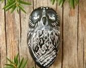 Mr. Black Owl focal bead - sleeping (made to order)