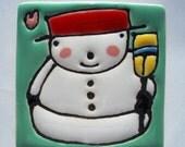 2.5 Square Snowman No. 18