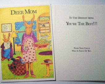 Deer Mom 5 x 7 Eco Friendly card