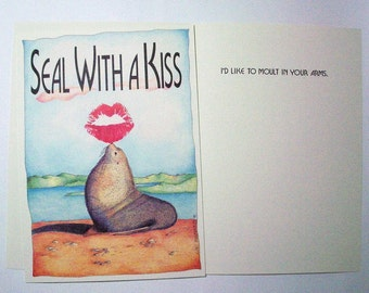 Set of Six Seal With a Kiss 5 x 7 Eco Friendly card