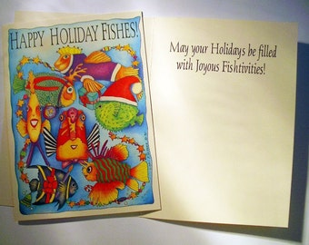Holiday Fishes Boxed 5 x 7 Eco Friendly Cards
