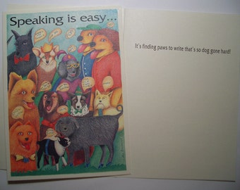 Speaking is easy.... -  Six Eco friendly 5 x 7 Card