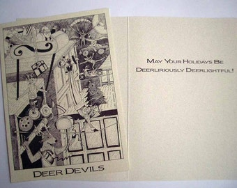 Boxed Holiday 5 x 7 Eco Friendly Deer Devils