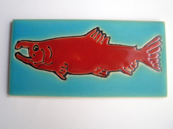 3 x 6 Salmon Tile with easel