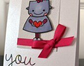 RESERVED FOR LIZ- birthday card for Violet
