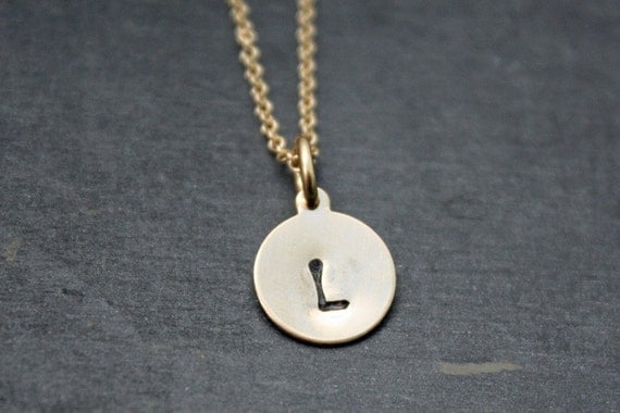 Gold Initial Necklace - Personalized Gold Initial Necklace - Custom Gold Initial Necklace - Small Gold Initial Necklace -