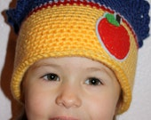 READY TO SHIP - Child Size - Snow White Princess Crown Beanie - As Pictured