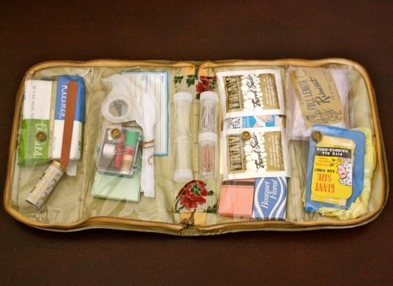 1950s Ladies Travel Kit - Camping Kit - All Purpose Kit