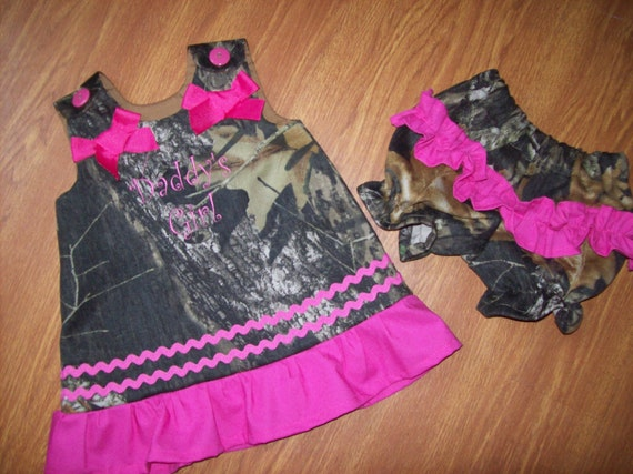 Custom BOUTIQUE Daddy's Girl Camo camouflage Dress bloomers or Pants