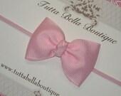 Light Pink Bow Headband, Baby Headband, Pink Baby Hair Bow, Pink Headband, Baby Bow, Toddler Headband, Newborn Headband, Baby Girl Bow