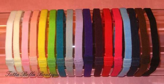 Skinny Interchangeable Headbands - Big Set of 17 Colors