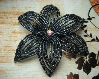 Deja Vu  -  Hair Clip - French Beaded Flower