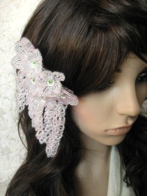Blossom Falls - Hair Comb - French Beaded Flower Kanzashi Maiko Geisha Japanese Hair Accessory