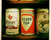 Vintage Beer Cans,  5x5 print - your pick