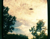 UFO Sighting - 5x5 Fine Art Photograph - Giclee Print