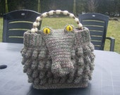 Crocheted Alligator handbag