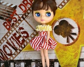 Movie Night Popcorn Dress for Kenner Neo-Blythe or Custom Blythe Doll