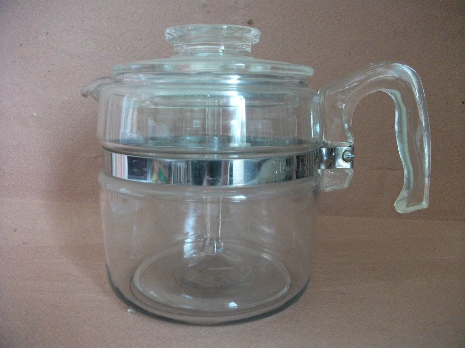 Pyrex Coffee Maker How To Use : Classic Vintage Glass PYREX PERCOLATOR Coffee Maker 4-Cup