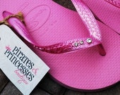 Womens Swarovski Crystal Bling Pink Havaianas Flip Flops - Kennedy