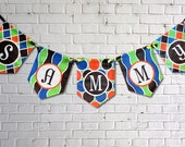 Canvas Wall Letters Painted Name Bright Fun Colors