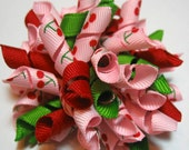 Very Cherry Korker Bow on Clip