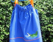 Pillowcase Dress in Florida Gator colors, Size 4T