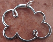 Sterling Silver Cloud Pendant(one)