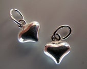 Puffed Sterling Hearts(Two Pair, or three pair)