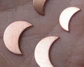 Copper Moon Stampings( You choose the size and quantity)