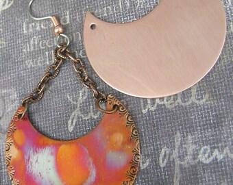 Copper Earring Parts(unique shape)(1 pair)