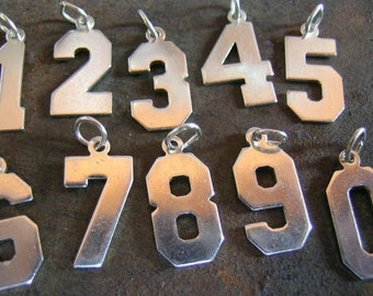 Sterling Silver Number Charms(1 number charm)