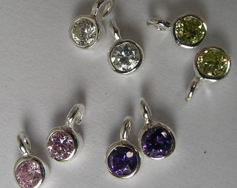 Sterling Silver And Crystal Drops