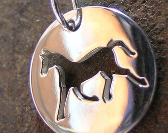 Sterling Silver Horse Charm Silhouette(one charm)