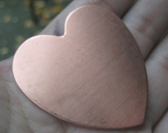 Copper Large Heart Stamping-2 inch(2 hearts)