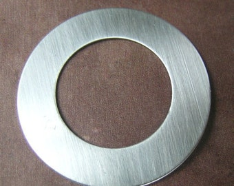 Sterling Silver Large Washer-You choose the size and Gauge(24, 22, or 20 gauge)