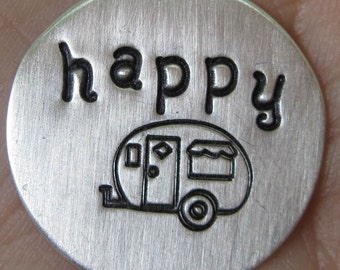 Sterling Silver Happy Camper Disc(one disc)
