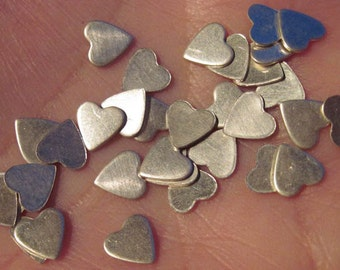 Tiny Sterling Silver Hearts(You choose the quantity)(22 gauge)