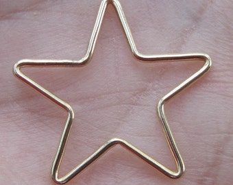 Gold filled or Rose Gold Filled Star frame - (22mm size) 1 or 2 quantity