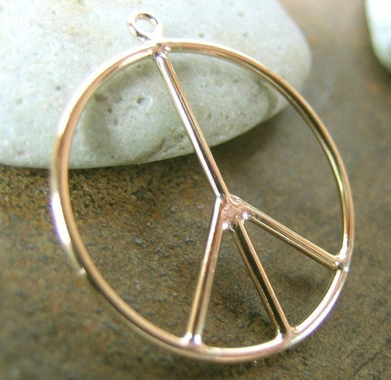 Gold Filled Peace Charm(one or two charms)