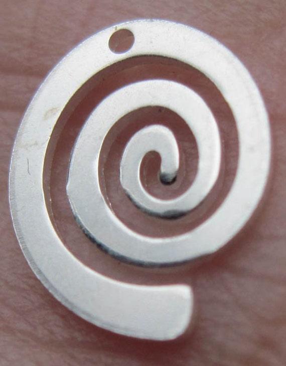 2 - Sterling Silver Swirl Discs(12mm)