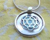 Chakra Lotus Fine Silver Necklace by Grassyfruits.etsy.com