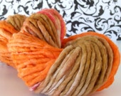Maple Leaves - 70 yds handspun organic cotton yarn, bulky